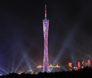 広州タワーライトアップ