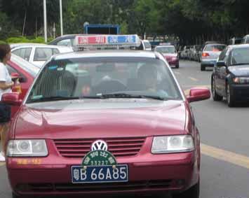 深センのタクシー
