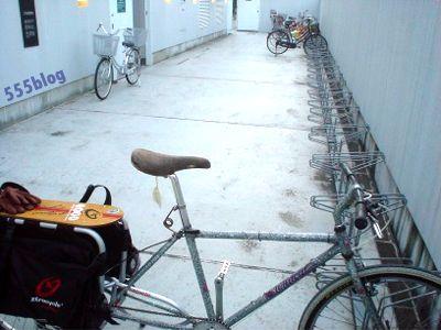 ロングテールバイク駐輪場  クイーンズ伊勢丹世田谷砧店 555nat.com ホロホロ日記