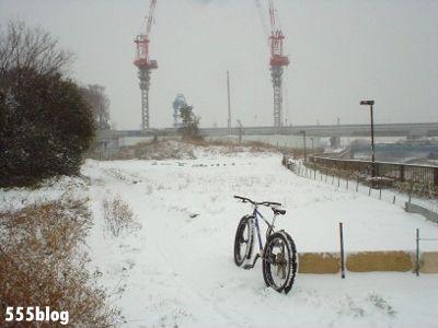 555nat ホロホロ日記 世田谷トレイル 2014年2月8日の新雪ライド(6)