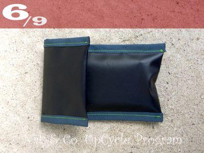 555nat ホロホロ日記  サイクルショップ・アップサイクルプログラム アップサイクルリサイクルポーチ SPEED GAME 使用済みバナーリサイクル(6)