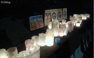 ホロホロ日記 555nat.com 官邸前抗議行動 キャンドルナイト Beautifull Energy Candles for Preace