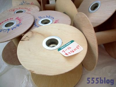 ホロホロ日記 555nat.com returnable bobbin リターナブルボビン リフレクトコード 東急ハンズ渋谷店B1A素材売場