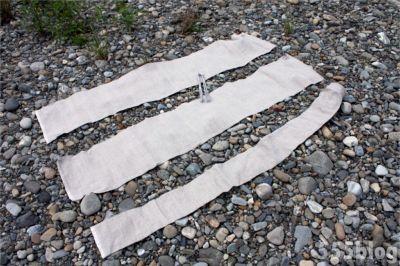 ホロホロ日記 555nat.com たまあじさいの会 リネンによる河川水放射線調査 2015.6.20 設置(3)