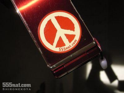 ホロホロ日記 555nat.com  リフレクト反射ステッカー ピースマーク Love and Peace 3M 使用例ガラケー