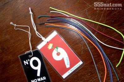 ホロホロ日記 555nat.com 白猫屋 リフレクト反射コード 2ミリ径 カラーバリエーション アピールカードのコード交換(1)