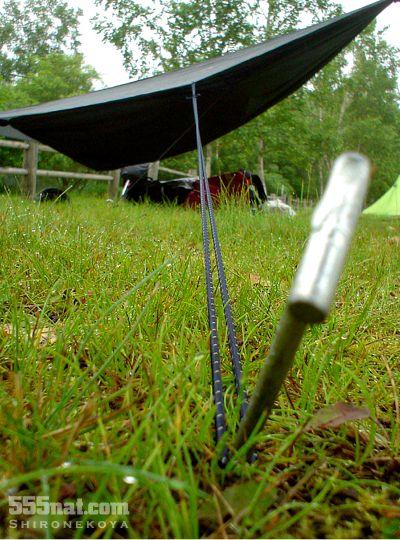 ホロホロ日記 555nat.com タープの張り綱交換 リフレクト反射ラバーコード 3ミリ径