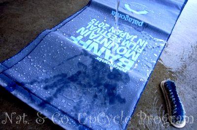ホロホロ日記 555nat.com アップサイクル バンフ映画祭 2015使用済みバナー 洗濯 ゲートシティ大崎 パタゴニア (1)