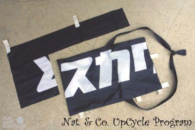 ホロホロ日記 555nat.com upcycle recycle サコッシュ アラスカワークス のぼり旗 バナー フラッグ アップサイクル リサイクル 2016年 特別注文品 handmade(2)