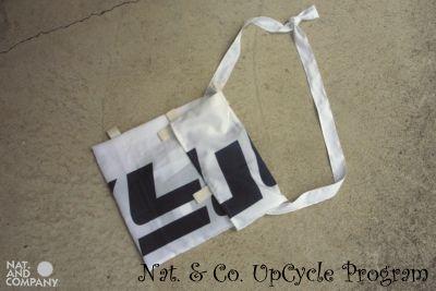 ホロホロ日記 555nat.com upcycle recycle サコッシュ アラスカワークス のぼり旗 バナー フラッグ アップサイクル リサイクル 2016年 特別注文品 handmade(3)