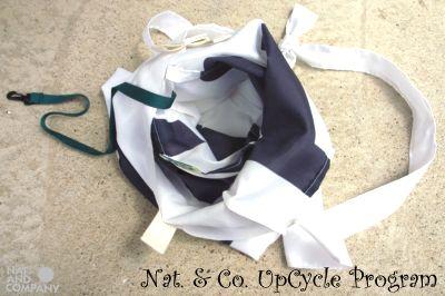 ホロホロ日記 555nat.com upcycle recycle サコッシュ アラスカワークス のぼり旗 バナー フラッグ アップサイクル リサイクル 2016年 特別注文品 handmade(4)