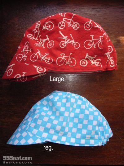 ホロホロ日記 555nat.com 白猫屋 オーダーメイド 特別注文品 オリジナル 注染手ぬぐい 持ち込み  サイクルキャップ Cyclingcap ラージサイズ 大きい頭にも対応(3)
