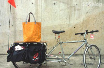 ホロホロ日記 555nat.com オリジナル トートバッグ ロングテールバイク用 ワックスドコットン プロトタイプ 試作品(1)