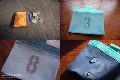 ホロホロ日記 555nat.com 白猫屋 2017年新作 ワックスドコットンキャンバス waxed cotton canvas coin purse 2017 Newコインパース
