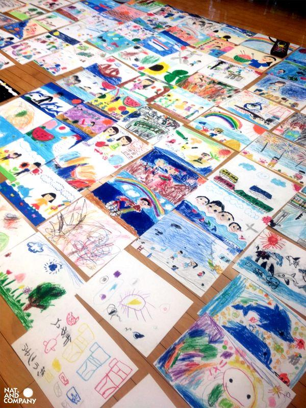 ホロホロ日記 555nat.com kids flag art 2017 ゲートシティ大崎 キッズフラッグお絵描き教室
