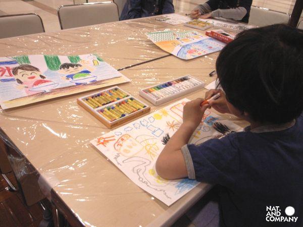 ホロホロ日記 555nat.com kids flag art 2017 ゲートシティ大崎 キッズフラッグお絵描き教室(2)