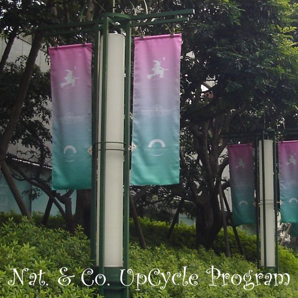 ホロホロ日記 555nat.com 555blog アップサイクル リサイクルバッグ バナー フラッグ majo グラデーション ゲートシティ大崎(1)