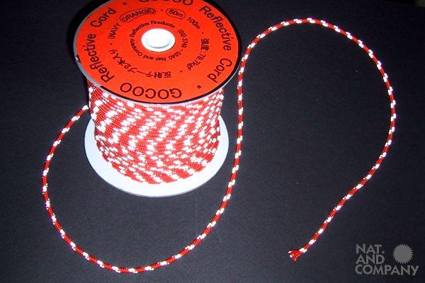 ホロホロ日記 555nat.com 555blog 東急ハンズ京都店4F 反射リフレクトコード3ミリ 販売中 白猫屋