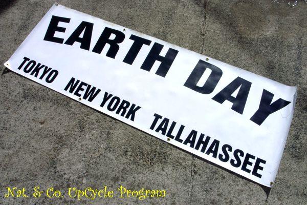 ホロホロ日記 555nat.com 555blog アップサイクル アースデイ バナー トートバッグ リサイクル earth day banner upcycle upcycling 1