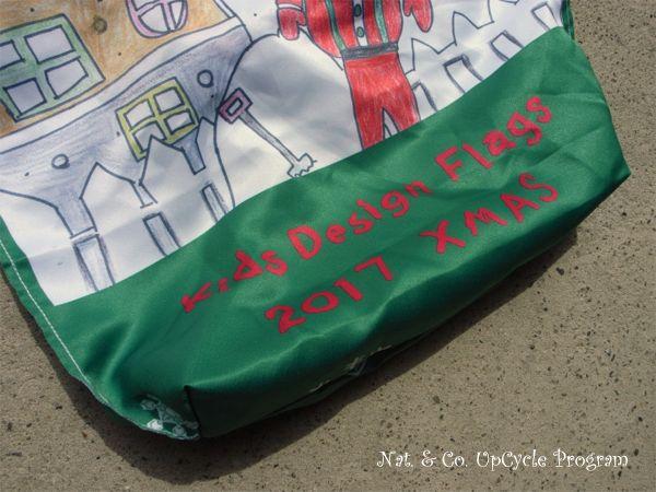 ホロホロ日記 555nat.com 555blog upcycle flag kids 2017 クリスマス アップサイクル フラッグ リサイクルバッグ(2)