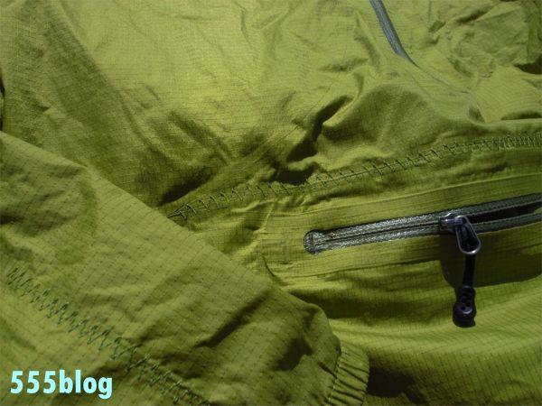 ホロホロ日記 555nat.com 555blog パタゴニア リペア 修理サービス H2NO プルジャケット(2)