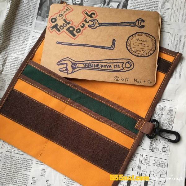 shironekoya 白猫屋 特製ツールポーチ ワックスコットン 取説カード 555blog 555nat ホロホロ日記