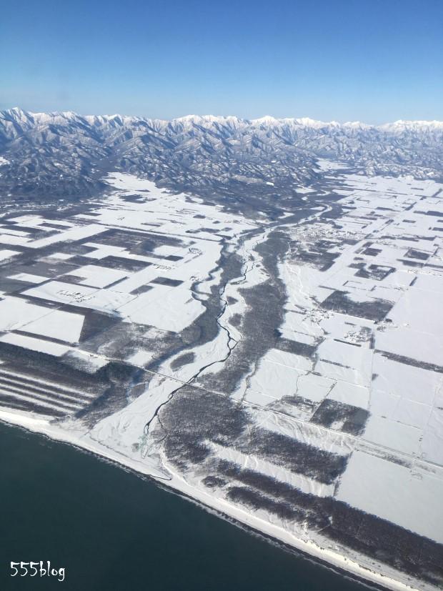 555blog ホロホロ日記 2月の北海道十勝平野と日高山脈