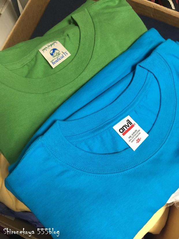 白猫屋 Tシャツ期間限定販売 アンビル社XL パタゴニア社オーガニックコットンL SET 555blog 555nat ホロホロ日記