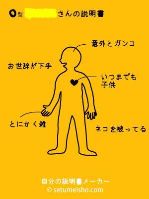 血液型自分の説明書(本名編)