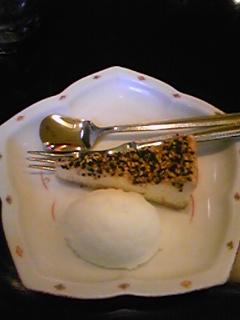 ごまチーズケーキとゆずシャーベット