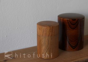 大川和美さんの茶筒