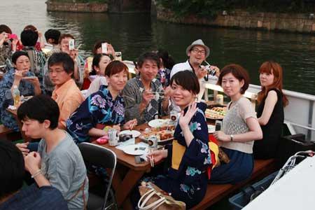 納涼船遊び3