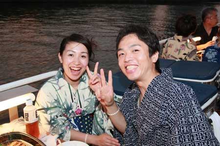 納涼船遊び6