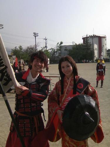 イベントの「姫」役と記念に2ショット