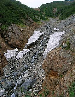 針ノ木雪渓170919