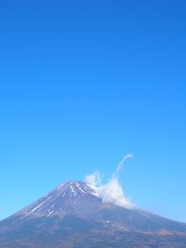 富士山と冬空171210
