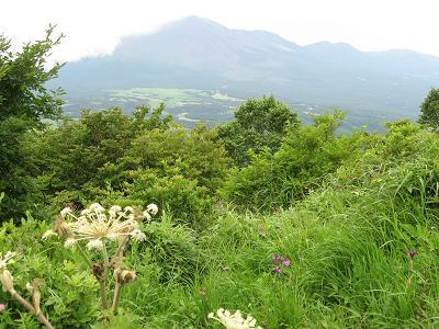 浅間隠山からの浅間山180729