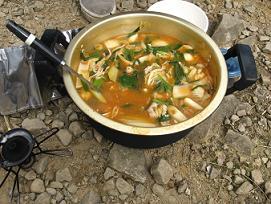 冠平キムチ鍋181021