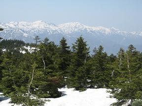 笈ヶ岳と大笠山190504