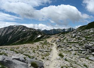 水晶岳への道190817