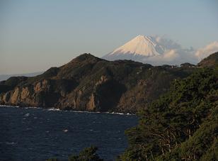 黄金崎からの富士201206