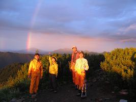 大滝山の虹210809