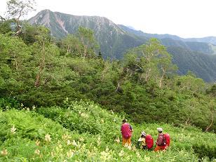 大滝山から常念岳へ210809