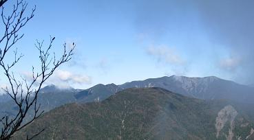 池口岳と光岳211011