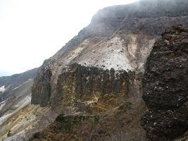 硫黄岳爆裂壁211018