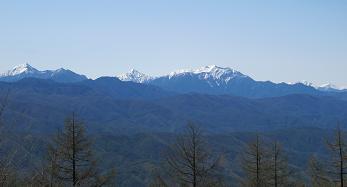 守屋山から南アルプス220515