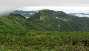 暑寒別岳西尾根220714