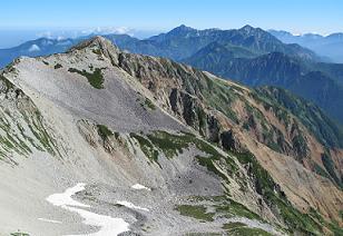 北薬師岳から立山連峰220823