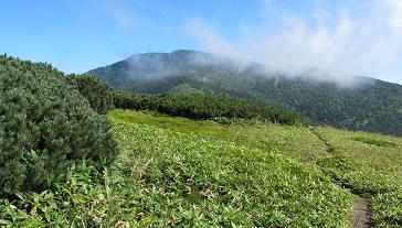 毛無山から御飯岳220904