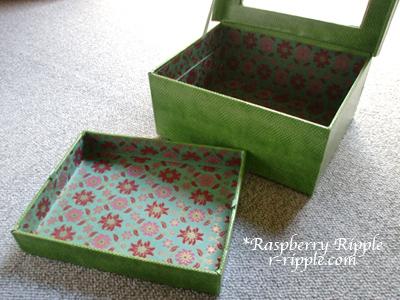 カルトナージュ作品 アクリル板の箱